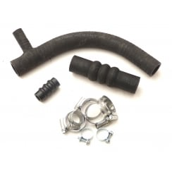 3 Piece Silicone Hose Kit (Bottom Hose with Heater Take-Off) With Clips