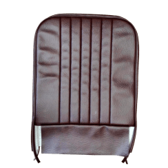 56-59 Front Seat Squab Cover Fixed Back Leather Maroon