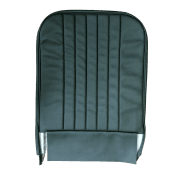 56-59 Front Seat Squab Cover Fixed Back Leather Sage Green
