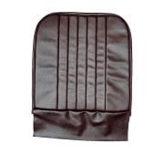 56-59 Front Seat Squab Cover Folding Back Leather Maroon