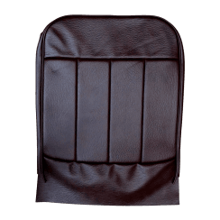 60-62 Front Seat Base Cover Leather Maroon