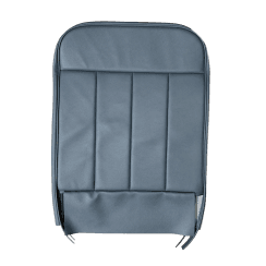 60-62 Front Seat Squab Cover Fixed Back Leather Blue