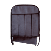60-62 Front Seat Squab Cover Fixed Back Leather Maroon