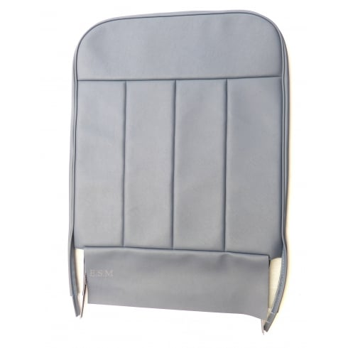 60-62 Front Seat Squab Cover Fixed Back Vinyl Blue/Grey