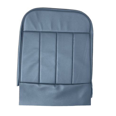 60-62 Front Seat Squab Cover Folding Back Leather Blue/Grey