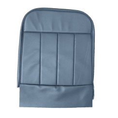 60-62 Front Seat Squab Cover Folding Back Leather Blue