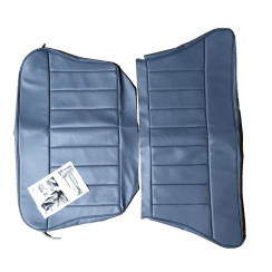 60-62 Rear Seat Cover 2DR Saloon Base and Back Leather Blue/Grey
