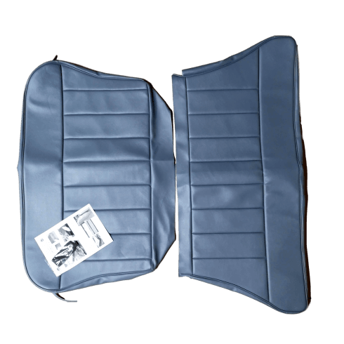 60-62 Rear Seat Cover 2DR Saloon Base and Back Leather Blue