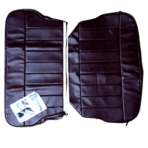 60-62 Rear Seat Cover 4DR Saloon Base and Back Leather Maroon