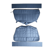 60-62 Rear Seat Cover Traveller Base and Back Leather Blue/Grey