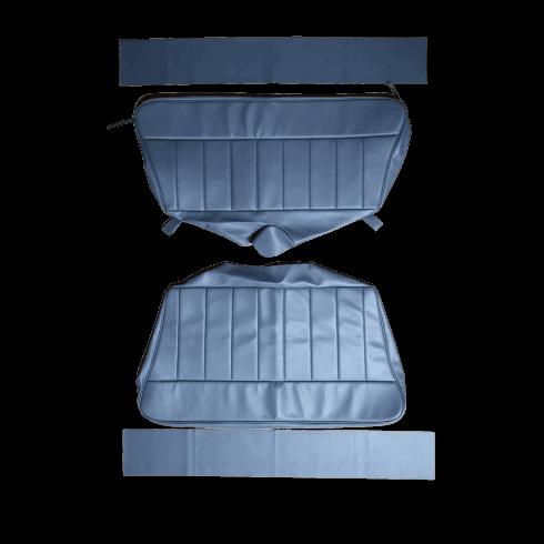 60-62 Rear Seat Cover Traveller Base and Back Vinyl Blue/Grey