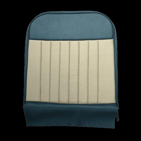 62-64 Duotone Front Seat Squab Cover Folding Back Vinyl Blue