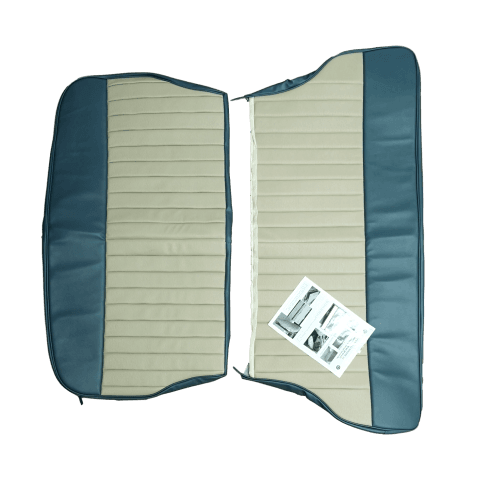 62-64 Duotone Rear Seat Cover 2DR Saloon Vinyl Blue/Grey