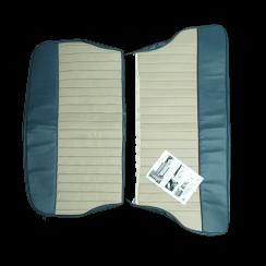 62-64 Duotone Rear Seat Cover 2DR Saloon Vinyl Blue