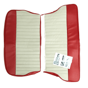 62-64 Duotone Rear Seat Cover 2DR Saloon Vinyl Cherokee Red