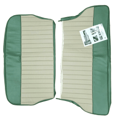 62-64 Duotone Rear Seat Cover 2Dr Saloon Vinyl Green