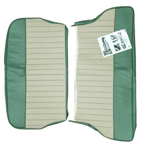 62-64 Duotone Rear Seat Cover 2Dr Saloon Vinyl Porcelain Green