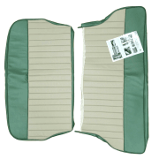 62-64 Duotone Rear Seat Cover 2Dr Saloon Vinyl Porcelain Green