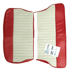 62-64 Duotone Rear Seat Cover 2DR Saloon Vinyl Red