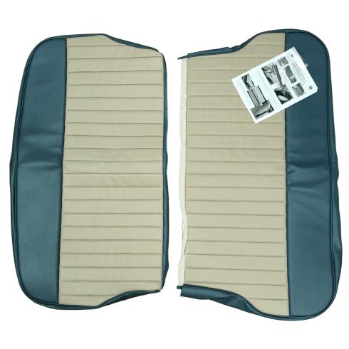 62-64 Duotone Rear Seat Cover 4DR Saloon Vinyl Blue/Grey
