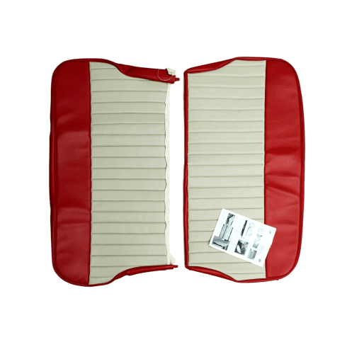 62-64 Duotone Rear Seat Cover 4DR Saloon Vinyl Cherokee Red