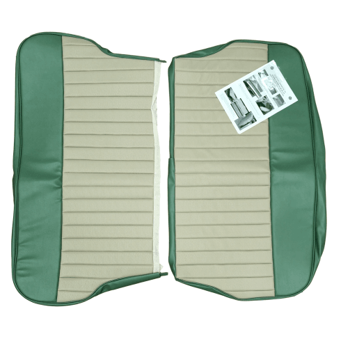 62-64 Duotone Rear Seat Cover 4DR Saloon Vinyl Porcelain Green