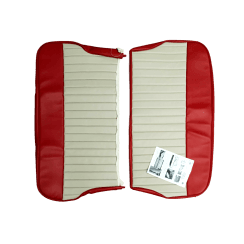 62-64 Duotone Rear Seat Cover 4DR Saloon Vinyl Red