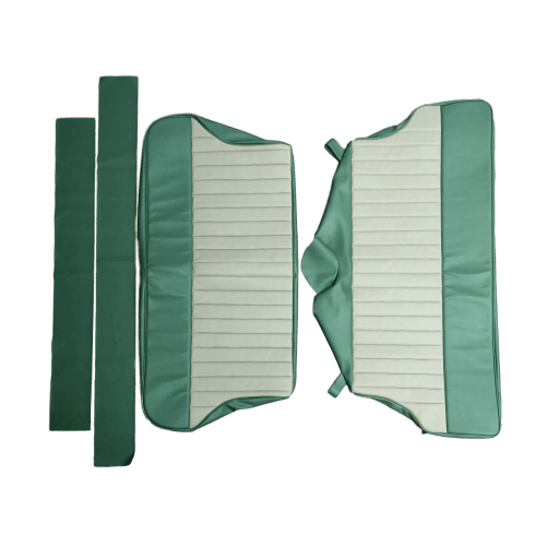 62-64 Duotone Rear Seat Cover Traveller Vinyl Porcelain Green