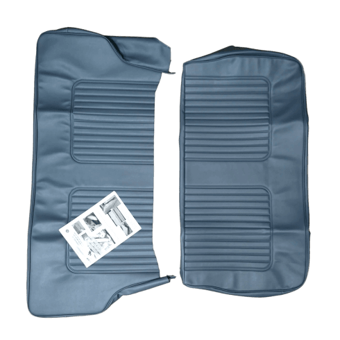64-71 Late Rear Seat Cover 2DR Saloon Vinyl Blue/Grey