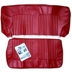 64-71 Late Rear Seat Cover 2DR Saloon Vinyl Cherokee Red