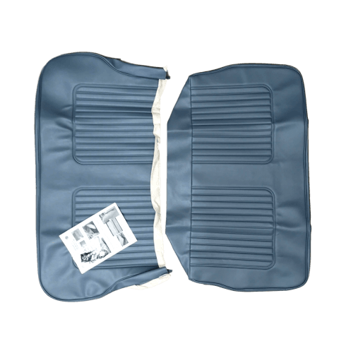 64-71 Late Rear Seat Cover 4DR Saloon Vinyl Blue/Grey