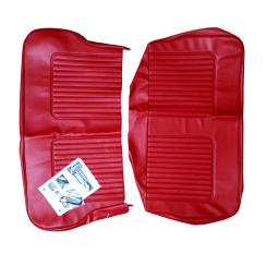 64-71 Late Rear Seat Cover 4DR Saloon Vinyl Red