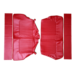 64-71 Late Rear Seat Cover Traveller Vinyl Cherokee Red