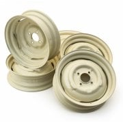 "*B-STOCK* SET OF 5 Road Wheels - MINOR 8 cwt. Van & Pick-Up (4.5"" Wide) Painted in O.E.W. (ACA8264) (LP917)"
