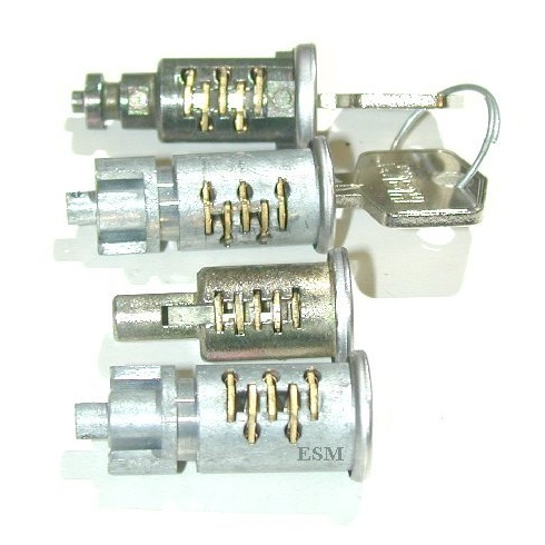 Barrel & Keys-Matched Lock Set (2-Door/Convertible) 1964-On