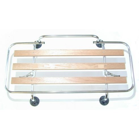 Boot Lid Rack-Polished Aluminium With Wooden Slats - Not Specifically Designed for Morris Minors