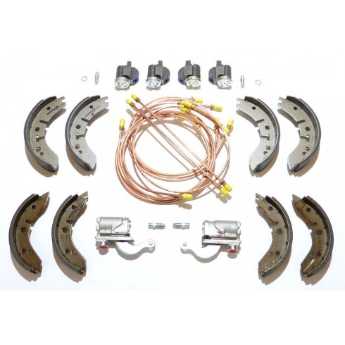"Brake Overhaul Kit (8"" Front Drums) L/H/D - GENUINE CYLINDERS & MINTEX SHOES *NOT Van or Pick-Up*"