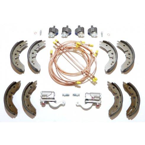 "Brake Overhaul Kit (8"" Front Drums) L/H/D - GENUINE CYLINDERS & MINTEX SHOES *NOT Van or Pick-Up*"