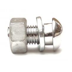 Bumper Bolt & Nut (Chrome) Large Head