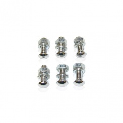 Bumper Bolt & Nut Kit (6) (Chrome) Small Head