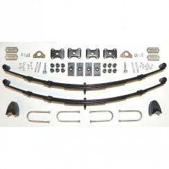 Complete Rear Leaf Spring Kit - 5 Leaf Springs (Saloon/Convertible) RUBBER BUSHES