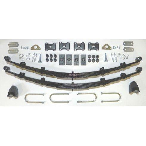 Complete Rear Leaf Spring Kit - 7 Leaf Springs (Traveller) RUBBER BUSHES