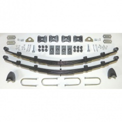 Complete Rear Leaf Spring Kit - 7 Leaf Springs (Traveller) RUBBER BUSHES