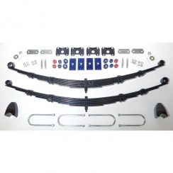 Complete Rear Leaf Spring Kit - 8 Leaf Springs (Van & Pick-Up) POLYURETHANE BUSHES