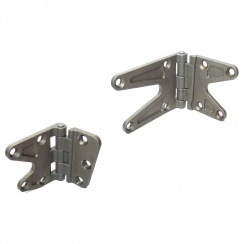 Door Hinge Pair L/H Front Upper and Lower NEW