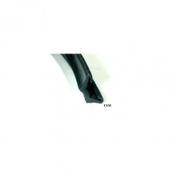 Door Window Channel-Velvet/Rubber (Fits In Top Of Door Window Frame)