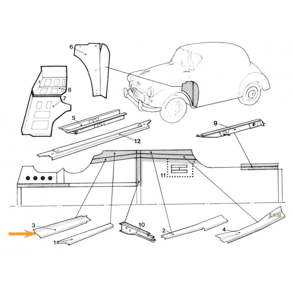 Ford Expedition Rocker Panel Replacement in addition Cleveland 24cga10 Floor Type Gas Convection Steamer Parts C 203916 203918 203927 together with 614 1997 wiring also Base likewise LTZ. on rocker panel replacement diagram