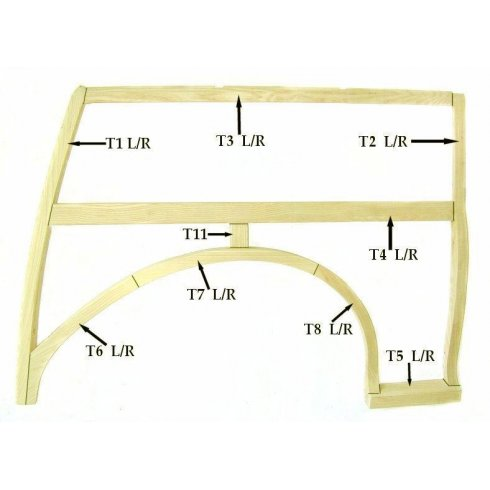 Front Section Of Wheel Arch R/H TOP QUALITY ASHMMCBATH PART NO('S):MMT1020