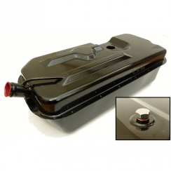 Fuel Tank / Petrol Fuel Tank-Van/Pick-Up - 9.5 Gallon Capacity Finished in Black Powder Coating