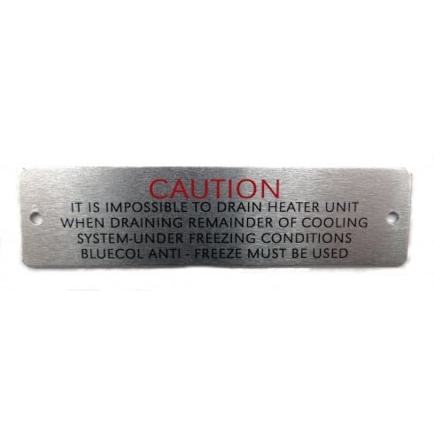 Heater Pipe Caution Badge